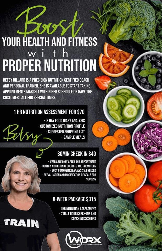 Betsy's nutrition program banner